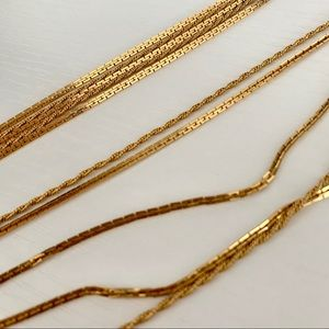 Vintage Gold Chain Layered Necklace